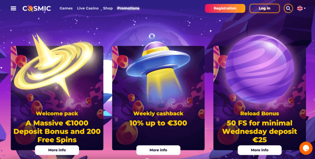 CosmicSlot Online Casino Review