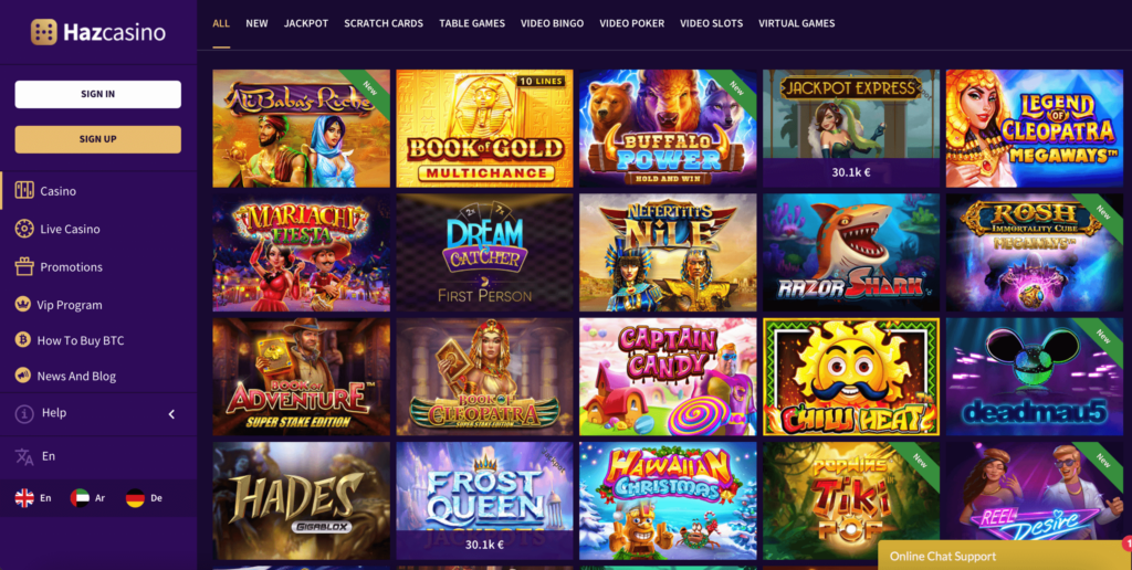 Haz Online Casino Review