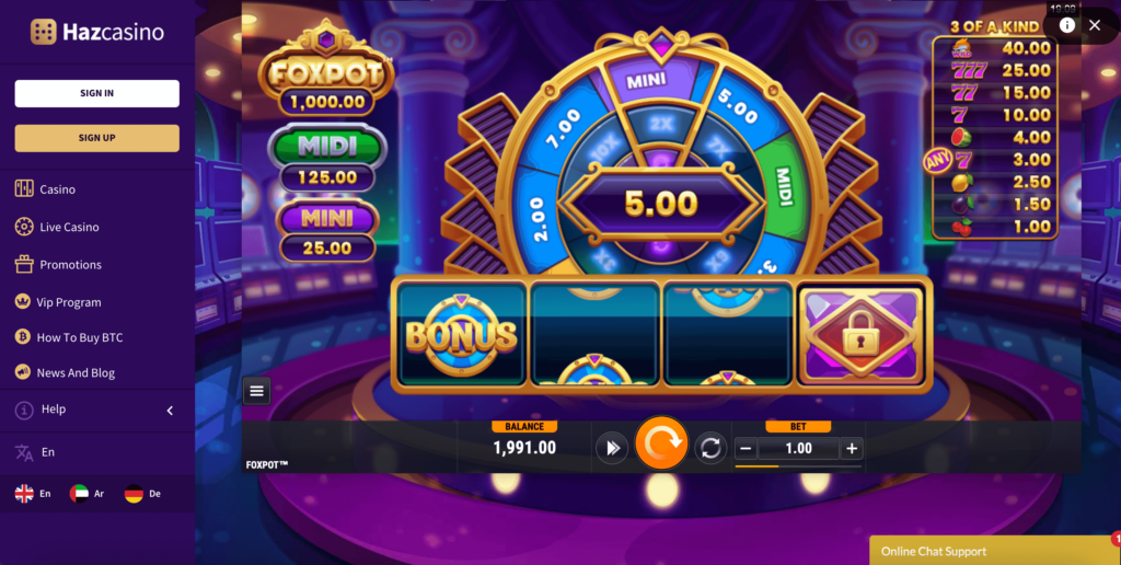 Foxpot Slot Game Foxium