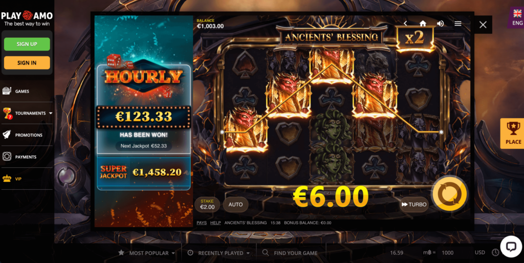 Ancients Blessing Red Tiger Gaming Slot Game