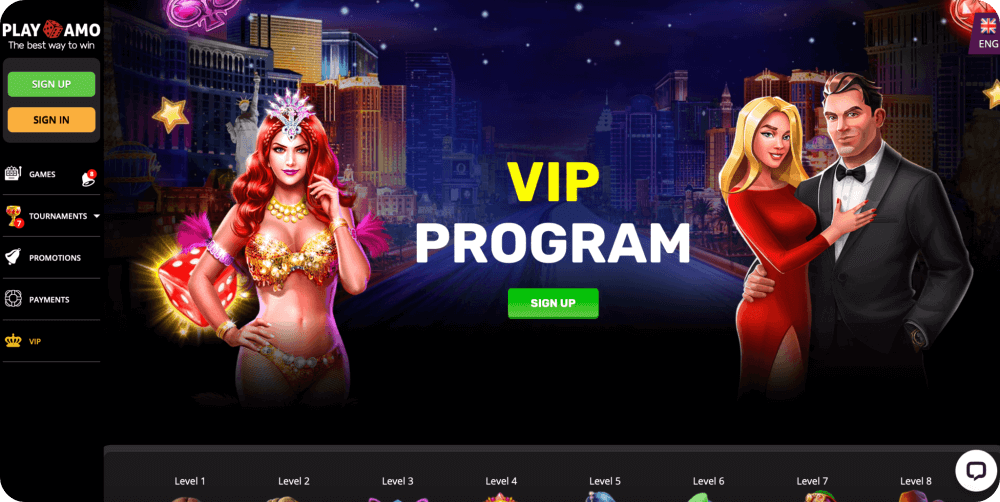 online vip casino program