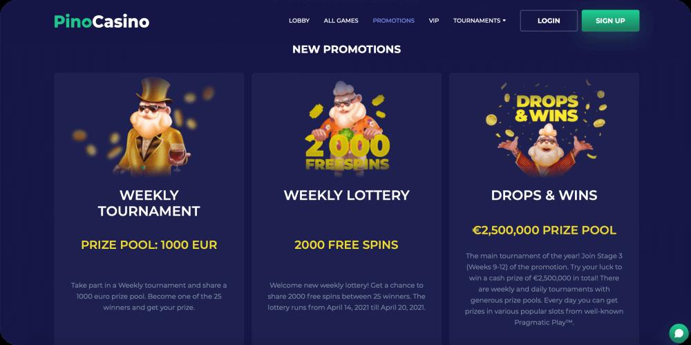 PinoCasino Online Casino Review