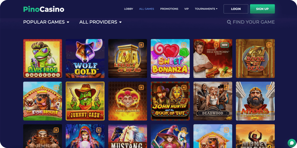 Online Casino Games Lobby
