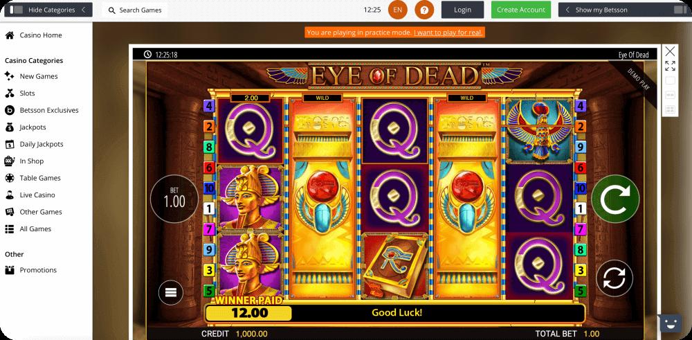 eye of dead slot blueprint gaming