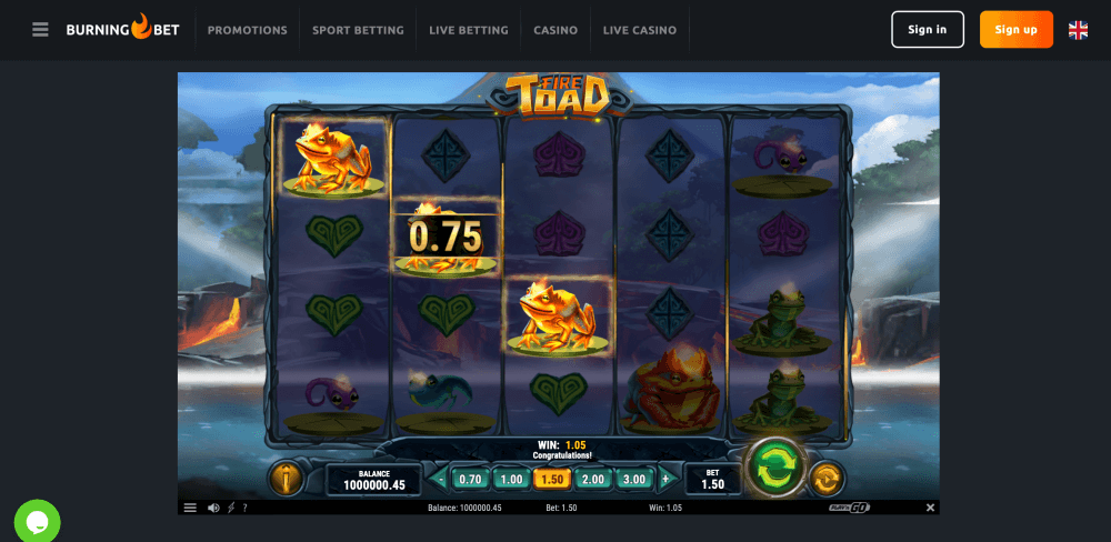 Fire Toad Slot Playngo
