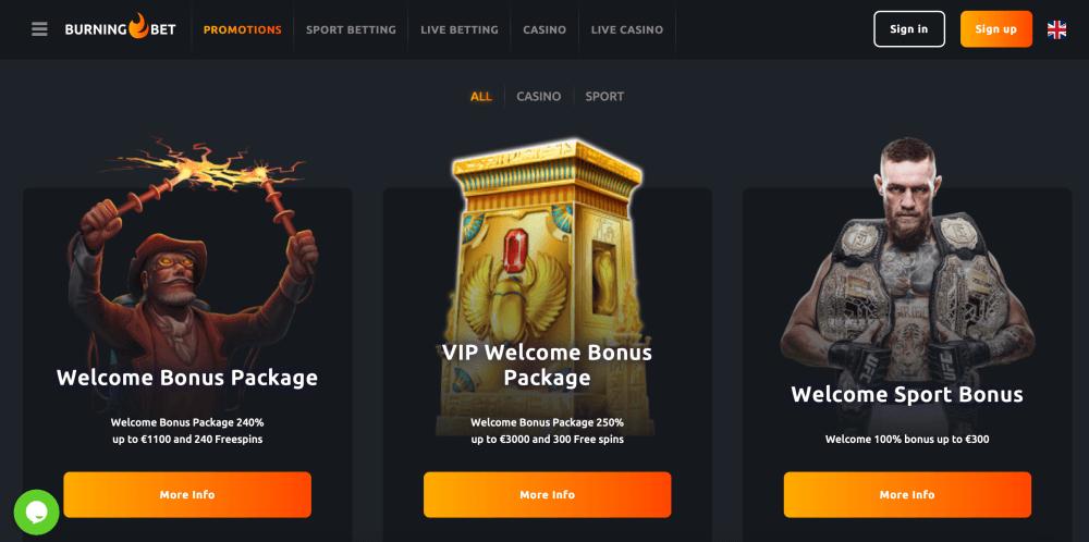 Burningbet Online Casino Review