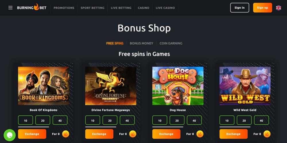 Casino Bonus Shop