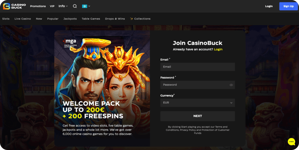 CasinoBuck Casino Review
