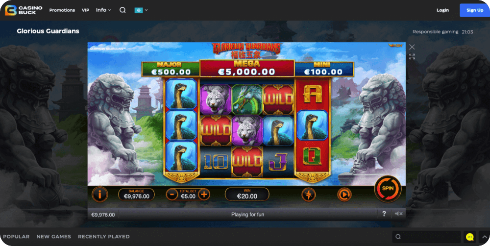 Glorious Guardians Playtech Online Slot