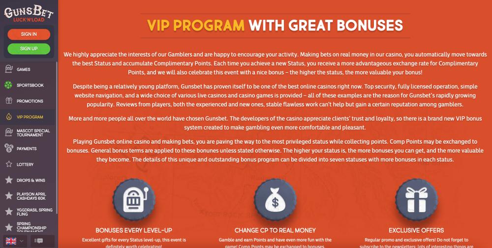 Online Casino VIP Bonuses