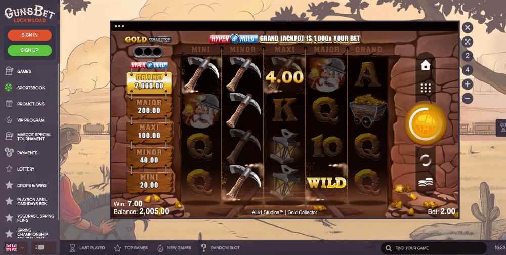 All41 Studios Microgaming Gold Collector Slot