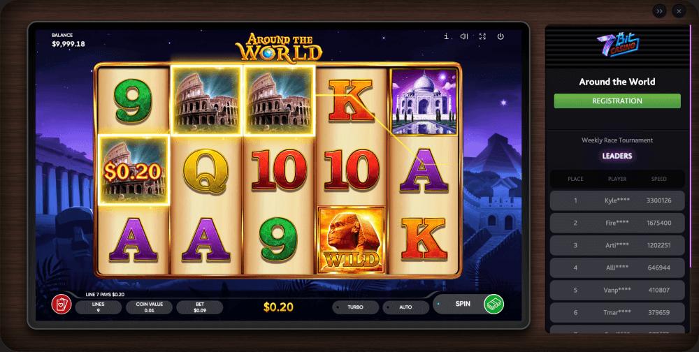 Endorphina Around the world slot game
