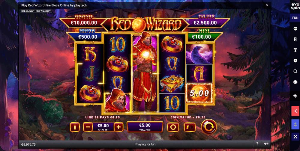 Red Wizard Fire Blaze Online Slot Playtech