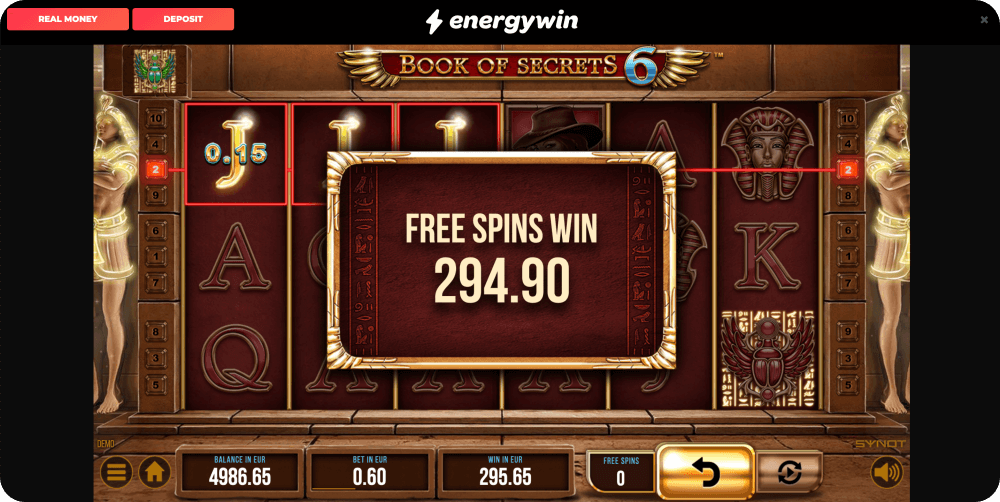 book of secrets 6 slot synot games free spins win