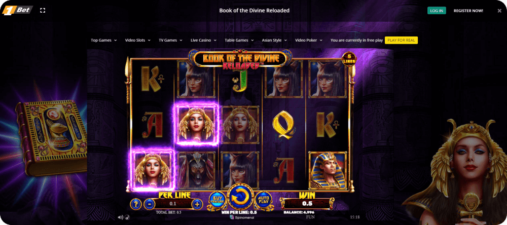 Spinomenal book of the divine reloaded online slot game