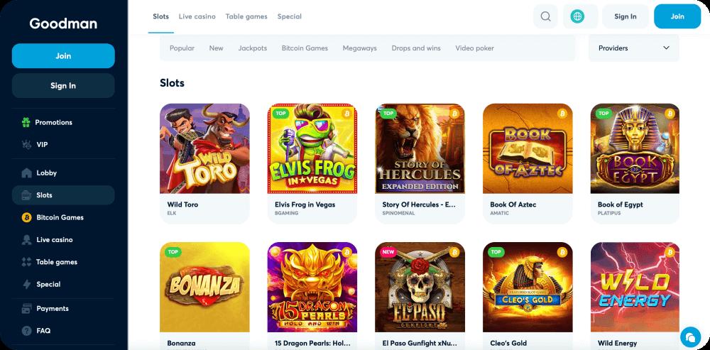 goodman online casino review