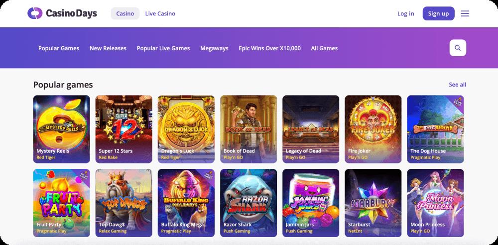 Casino Days Online Casino Review