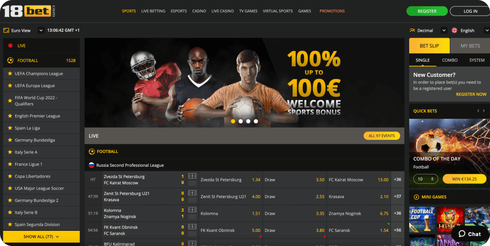 18bet sports bookmaker