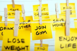 New Years resolutions post its