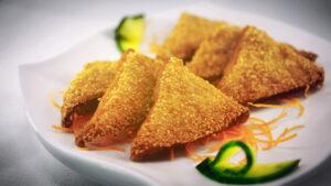 prawn on toast from Chinese restaurant in Gosforth NE3