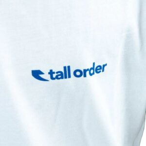 Tall Order Logo T-shirt – White With Blue Print