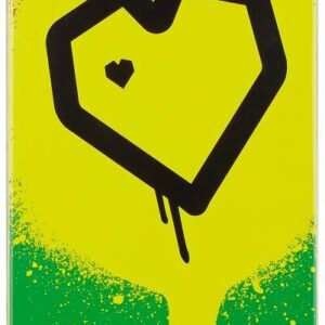 Blueprint Spray Heart V2 Complete Skateboard 8″ – Rasta