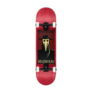 Birdhouse Stage 3 Plague Doctor Complete Skateboard – Red 8″