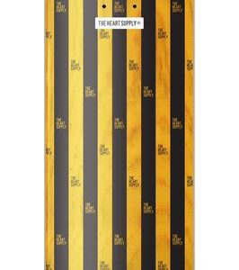 The Heart Supply – Luxury Stripes Deck – Black/Yellow 8″