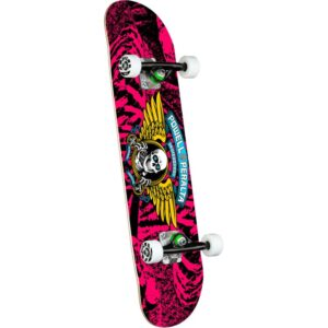 Powell Peralta Winged Ripper Complete Skateboard – Pink 7″