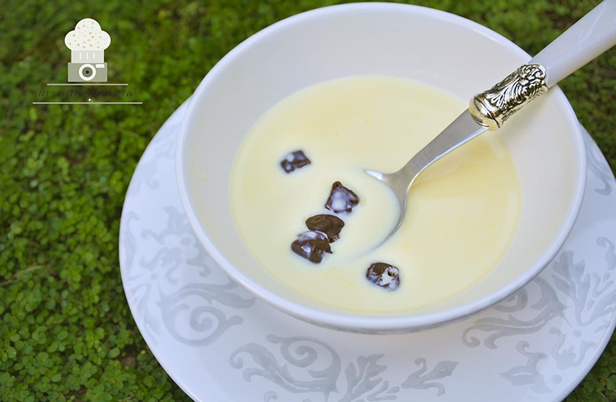 sopa de chocolate blanco