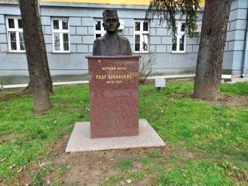 Spomen bista Rade Jovanović u Sopotu