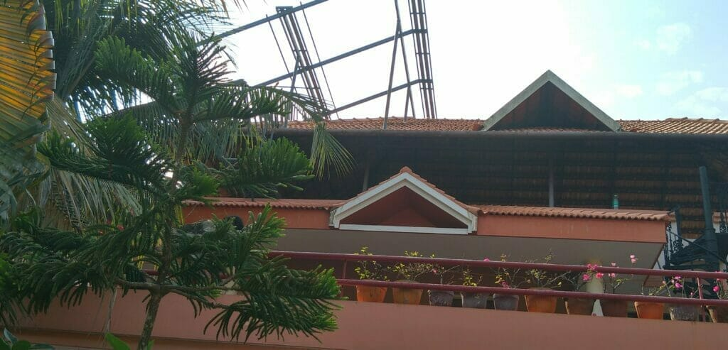 Solar Products Portfolio - Panel mounting structure over the second floor roof