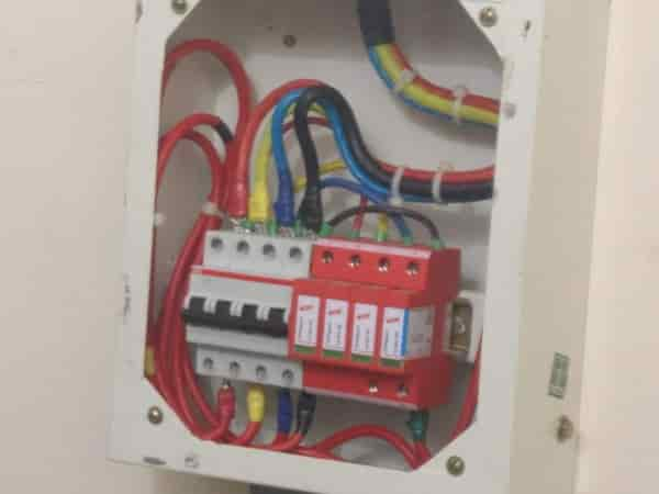 On Grid Solar Electric Generating System - Surge Protection Device and MCB