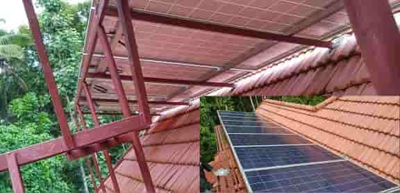 Solar off grid system - PV Panels with walk way...