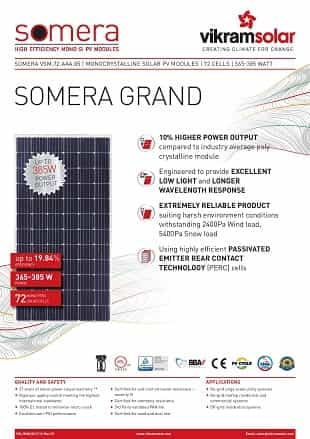 Vikram Solar Somera Grand Series Panels