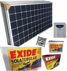 Solar Plant Package 3kva x 6 Panels