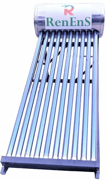 Solar Water Heater Straight View