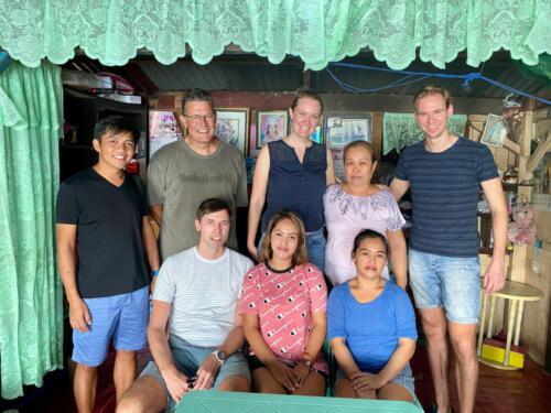 Familie uit de wijk Beseco