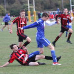 Matthew Hill bursts past the Ripon defence