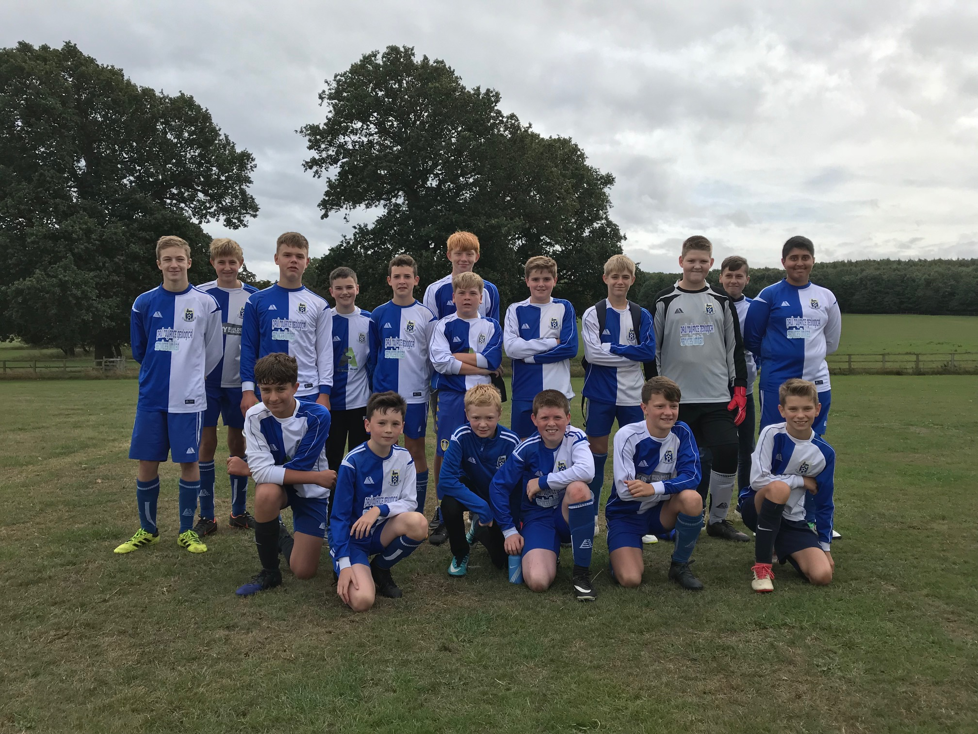 The U14s team that beat Pannal Ash 9-3 on September 9th 2018