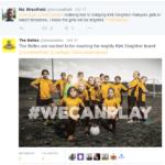 Oct 2015: Doncaster Belles tweet KDR Girls visit
