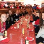 Dec 2018: U14s apres-skate pizza and hot chocolate