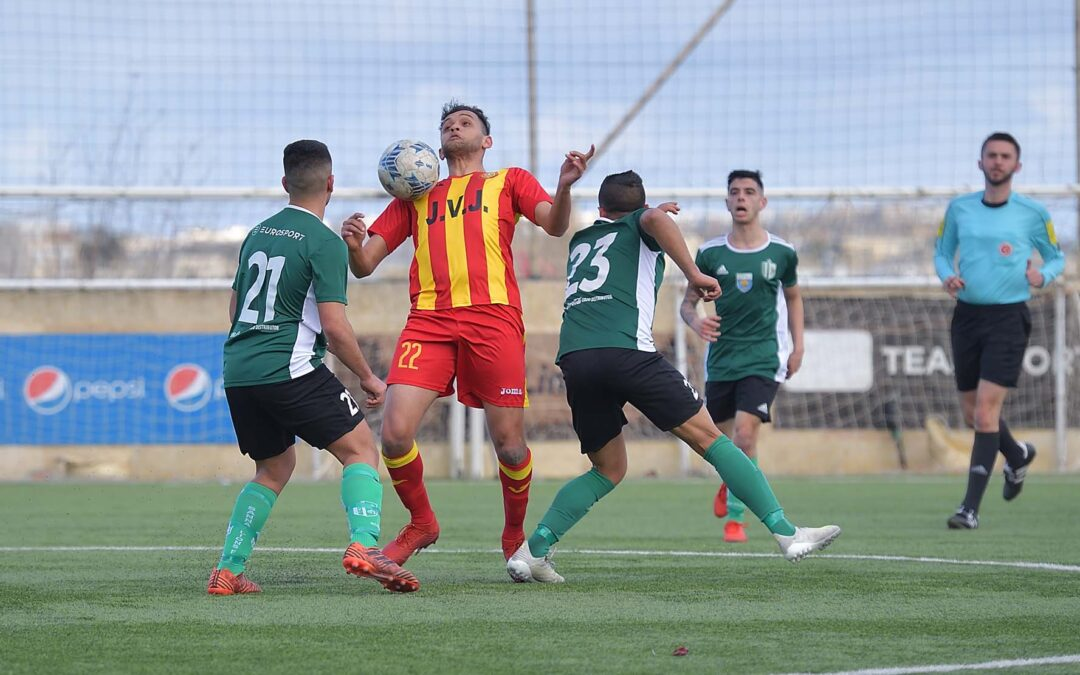 Sannat defend sole leadership with late goals