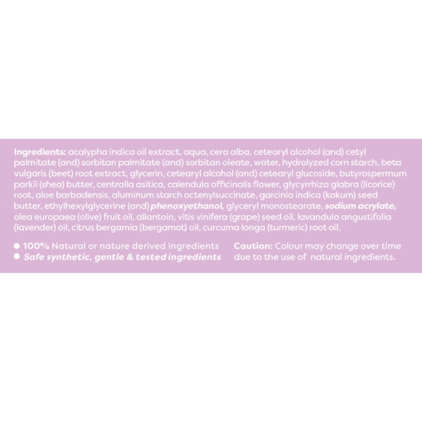 Anise natural multi-purpose soothing cream label ingredients
