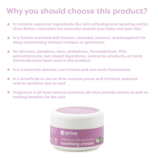 Why use Anise natural soothing cream
