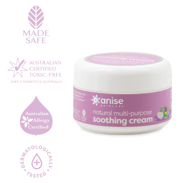 Anise natural multi-purpose soothing cream certifications