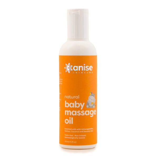 Natural baby massage oil