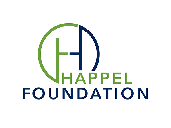 Happel Foundation - Logo weiss-gruen_blau