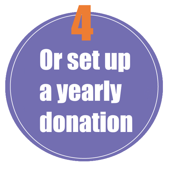 Set up a yearly donation