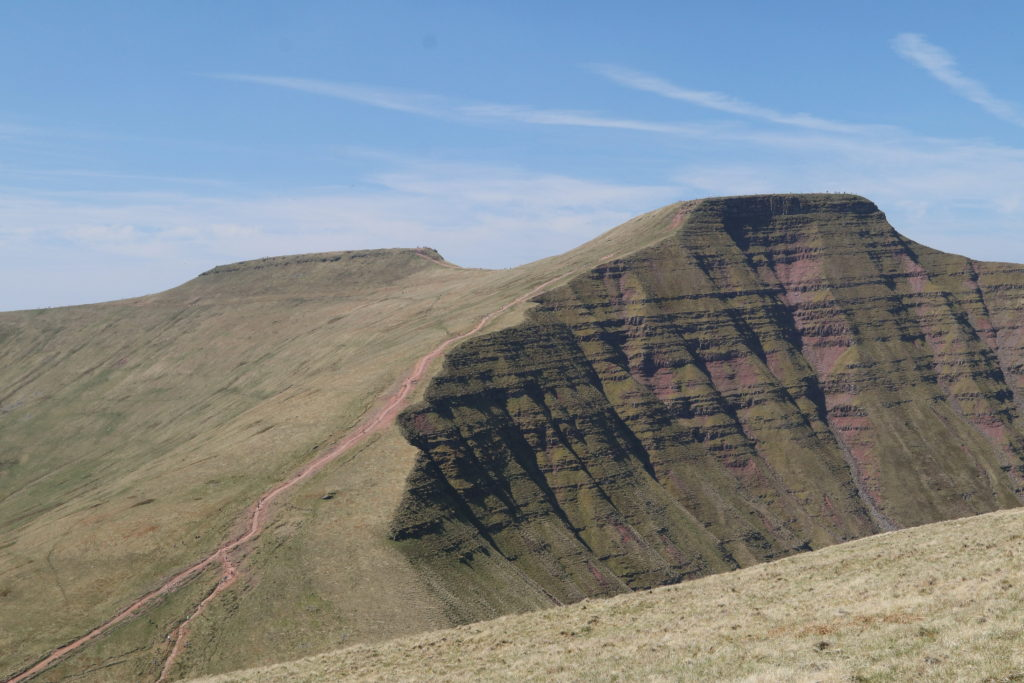 Looking towards Pen y Fan from Cribyn